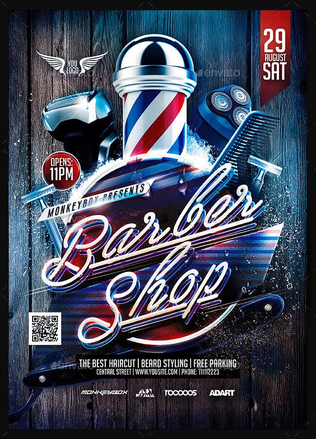 Barber Shop Marketing ThePalmBeachPrintercom - Direct mail flyer template