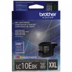 Original Brother LC10EBK Super High Yield Black Ink Cartridges