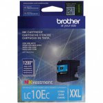 Original Brother LC10EC Super High Yield Cyan Ink Cartridges