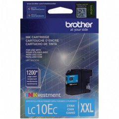 Original Brother LC10EC Super High Yield Cyan Ink Cartridges
