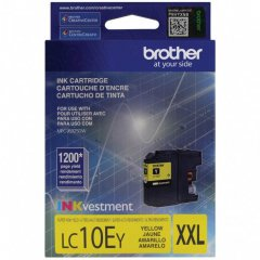 Original Brother LC10EY Super High Yield Yellow Ink Cartridges