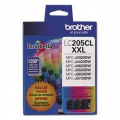 Original Brother LC2053PKS Super High Yield Cyan, Magenta, Yellow Ink Cartridges 3-Pack