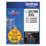 Original Brother LC2072PKS Super High Yield Black Ink Cartridges 2-Pack