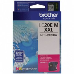 Original Brother LC20EM Super High Yield Magenta Ink Cartridges