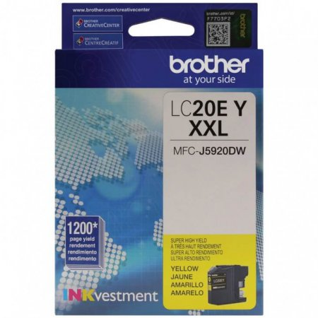 Original Brother LC20EY Super High Yield Yellow Ink Cartridges