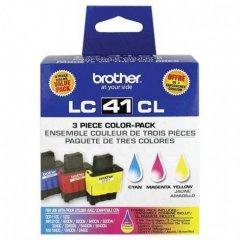 Brother OEM LC413PKS Cyan / Magenta / Yellow Ink Cartridges 3-Pack