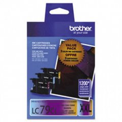 Original Brother LC793PKS Super High Yield Cyan, Magenta, Yellow Ink Cartridges 3-Pack