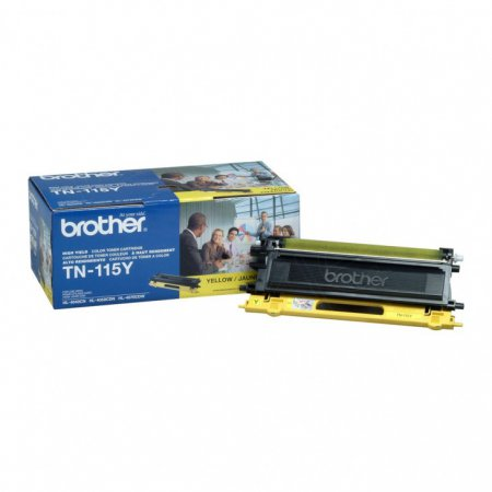 Brother TN115Y High Yield Yellow OEM Laser Toner Cartridge