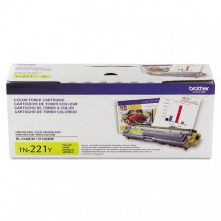 Brother TN221Y Yellow OEM Laser Toner Cartridge