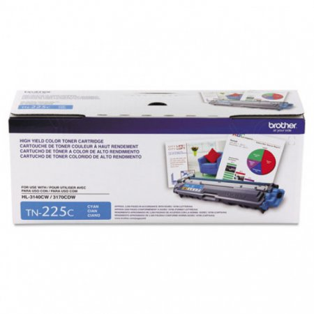 Brother TN225C High Yield Cyan OEM Laser Toner Cartridge