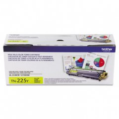Brother TN225Y High Yield Yellow OEM Laser Toner Cartridge