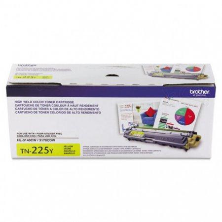 Brother TN225Y High Yield Yellow OEM Laser Toner Cartridge