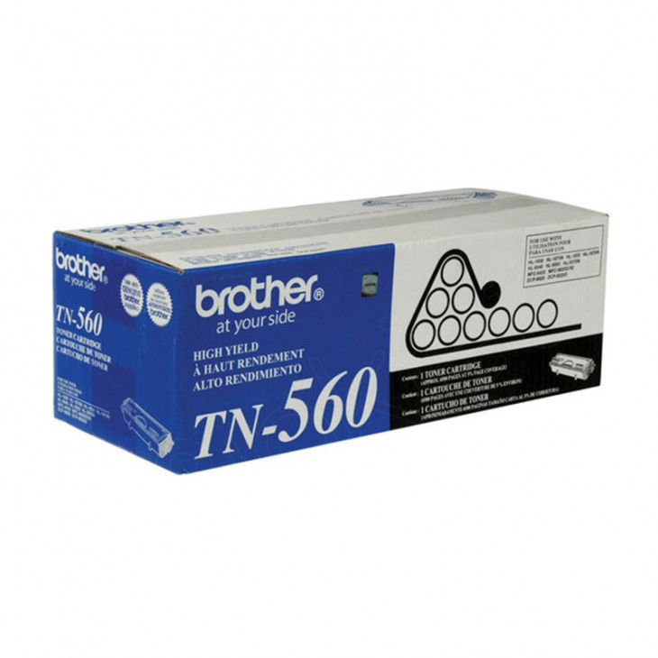 Brother TN560 High Yield Black OEM Laser Toner Cartridge