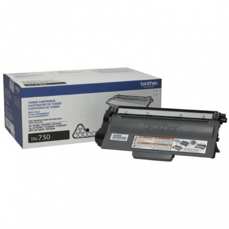 Brother TN750 High-Yield Black OEM Laser Toner Cartridge