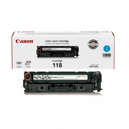 Canon 2661B001AA (118) OEM Cyan Laser Toner Cartridge
