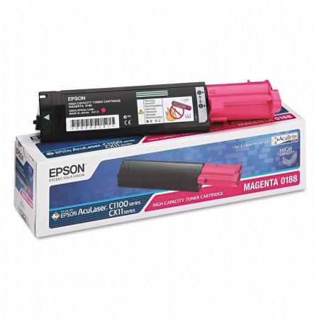 Epson 0188 Magenta Toner Cartridge S050188, Original Epson OEM