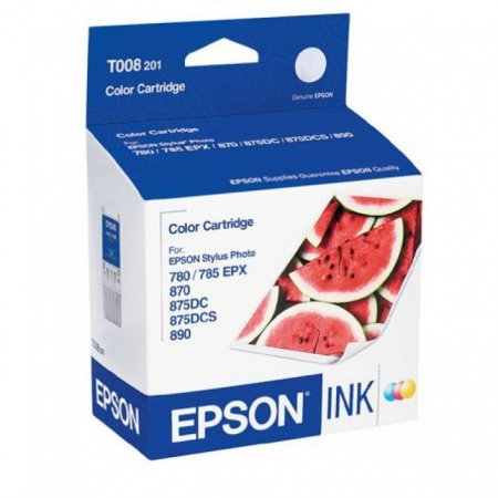 Epson T008201 Ink Cartridge, Color, OEM
