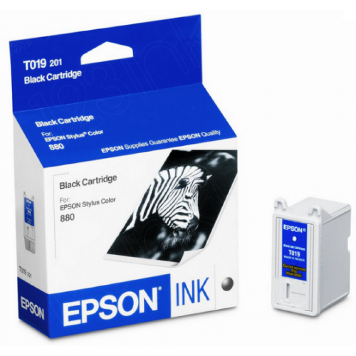 Epson T019201 Ink Cartridge, Black, OEM
