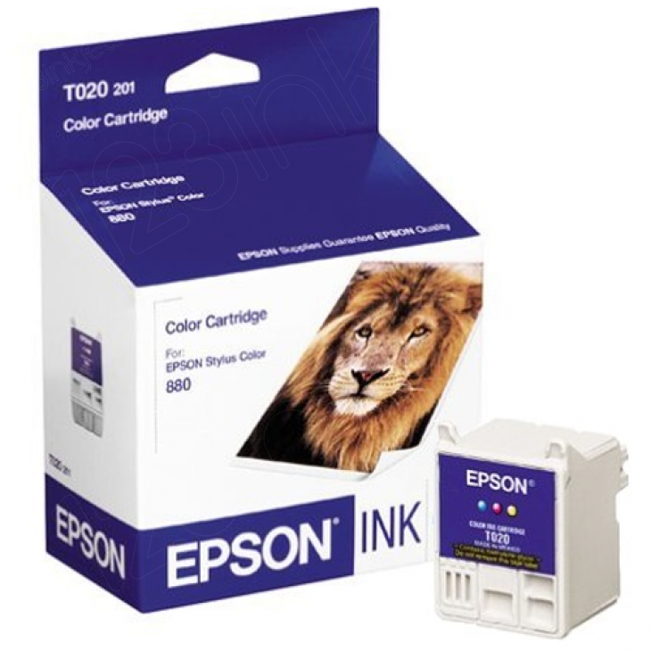 Epson T020201 Ink Cartridge, Color, OEM