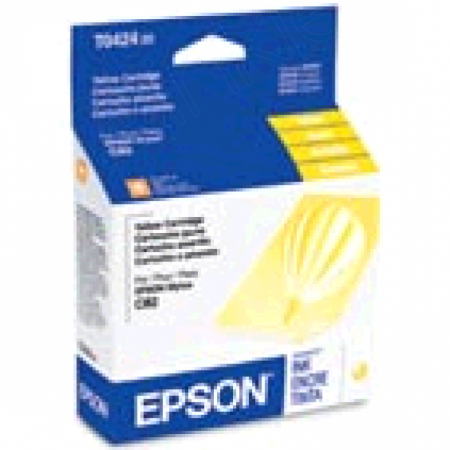 Epson T042420 Ink Cartridge, Yellow, OEM