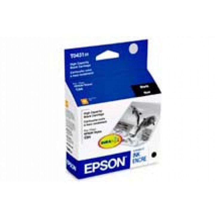 Epson T043120 High Capacity Ink Cartridge, Black, OEM