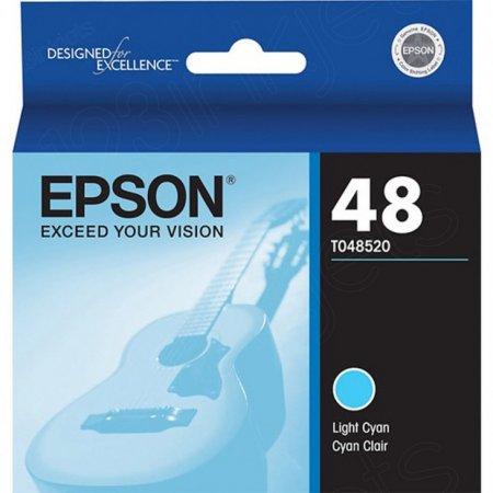 Epson T048520 Ink Cartridge, Light Cyan, OEM