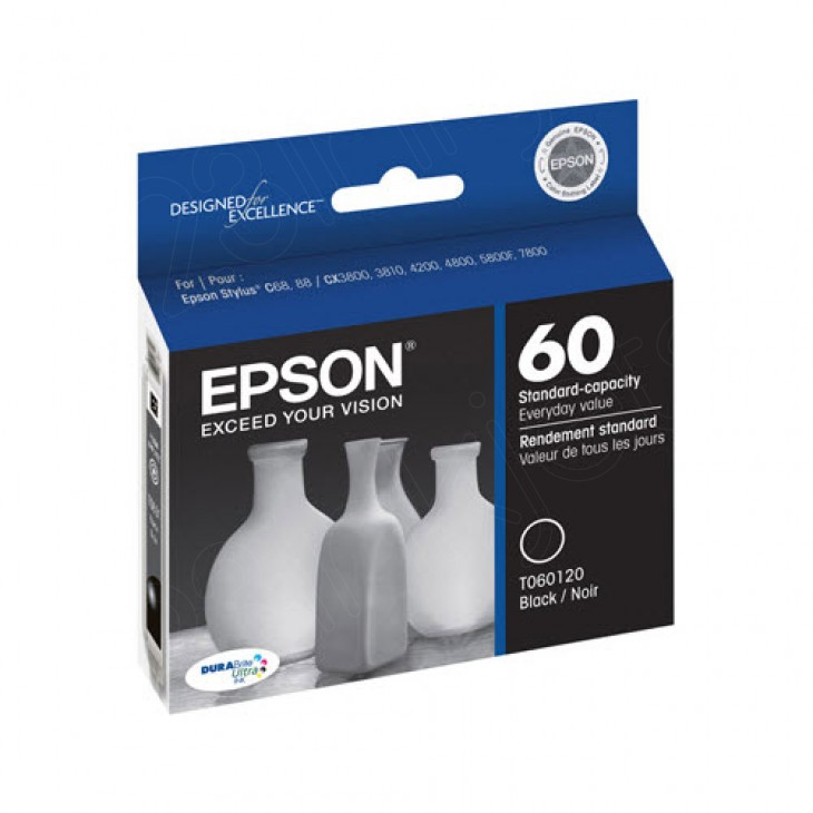 Epson T060120 Ink Cartridge, Black, OEM