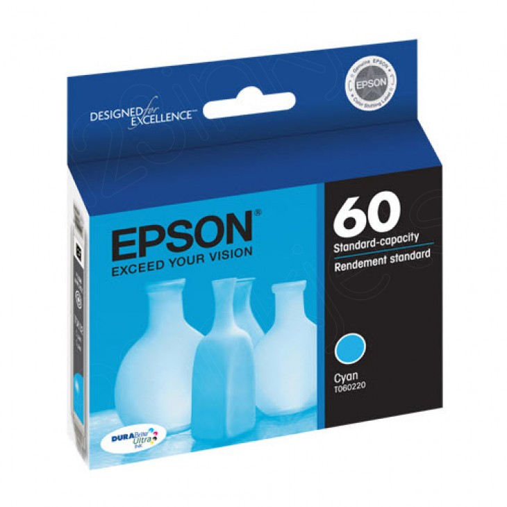 Epson T060220 Ink Cartridge, Cyan, OEM