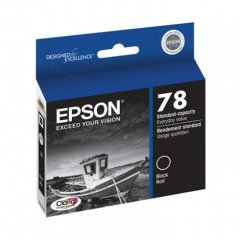 Epson T078120 Ink Cartridge, Black, OEM