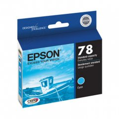 Epson T078220 Ink Cartridge, Cyan, OEM