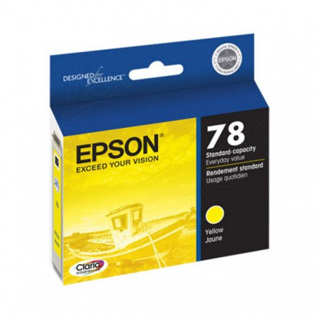 Epson T078420 Ink Cartridge, Yellow, OEM