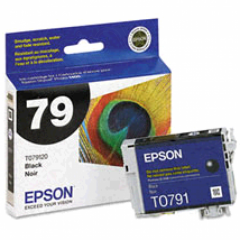 Epson T079120 Ink Cartridge, High Yield Black, OEM
