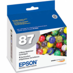 Epson T087020 Ink Cartridge, Gloss Optimizer, OEM