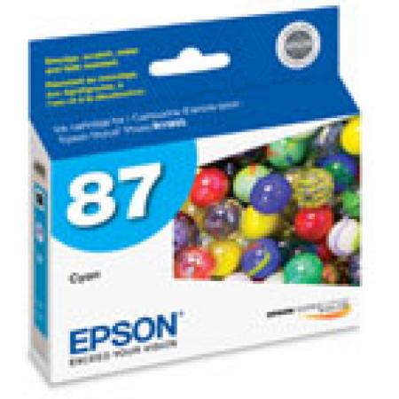 Epson T087220 Ink Cartridge, Cyan, OEM