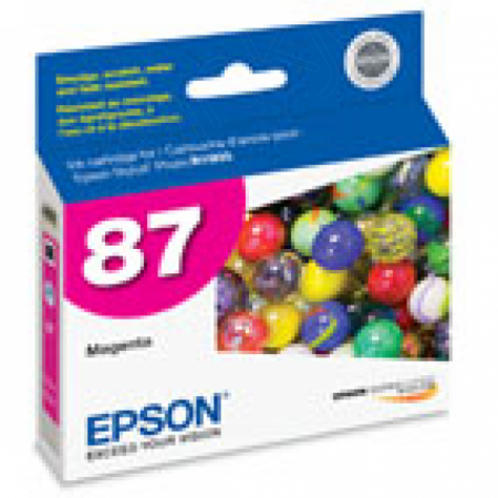 Epson T087320 Ink Cartridge, Magenta, OEM