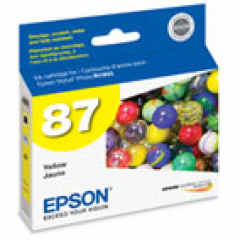 Epson T087420 Ink Cartridge, Yellow, OEM