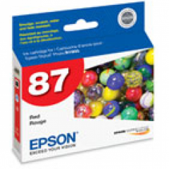 Epson T087720 Ink Cartridge, Red, OEM