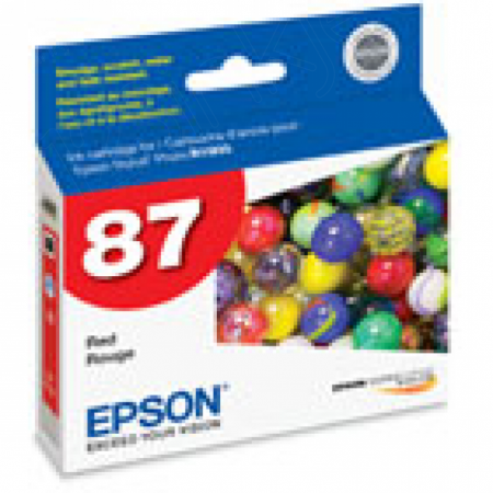 Epson T087720 Ink Cartridge, Red, OEM