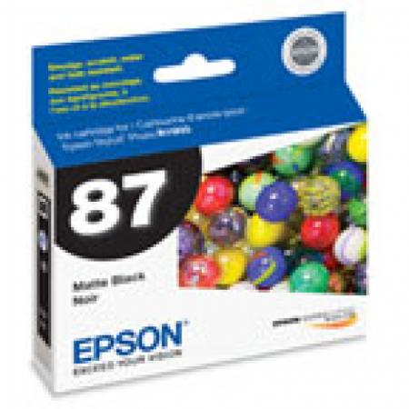 Epson T087820 Ink Cartridge, Matte Black, OEM