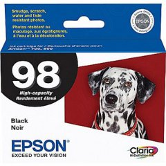 Epson T098120 Ink Cartridge, High Yield Black, OEM