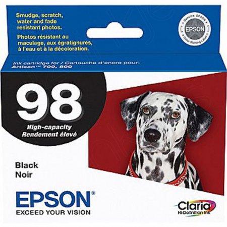 Epson T098120 Ink Cartridge, High Yield Black, OEM