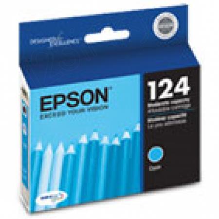 Epson T124220 Ink Cartridge, Cyan, OEM