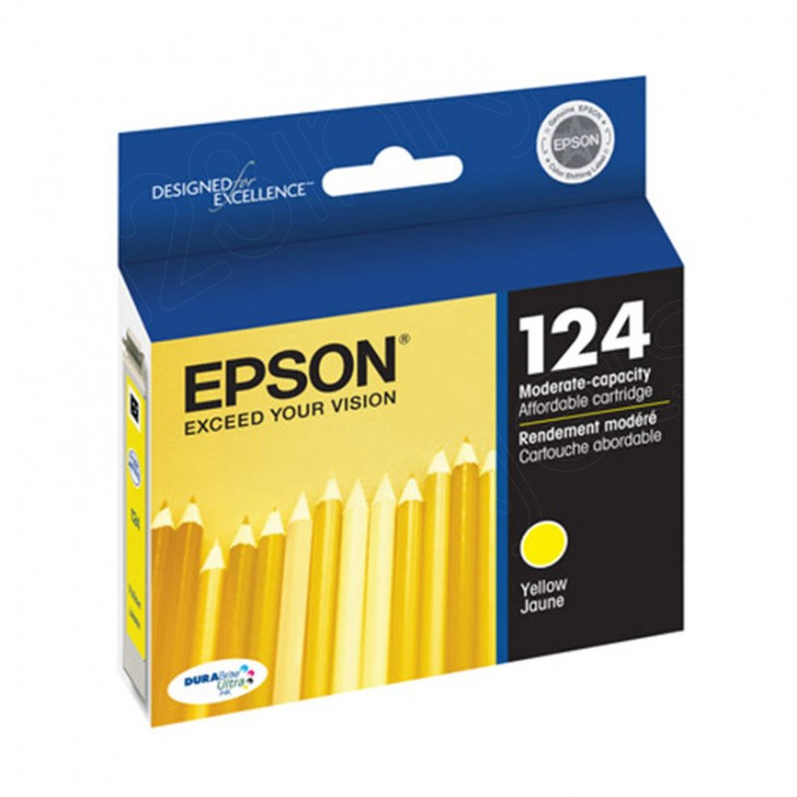 Epson T124420 Ink Cartridge, Yellow, OEM