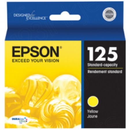 Epson T125420 Ink Cartridge, Yellow, OEM