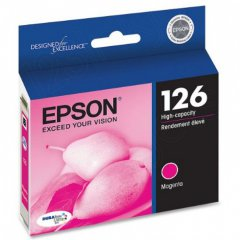 Epson T126320 Ink Cartridge, High Capacity Magenta, OEM