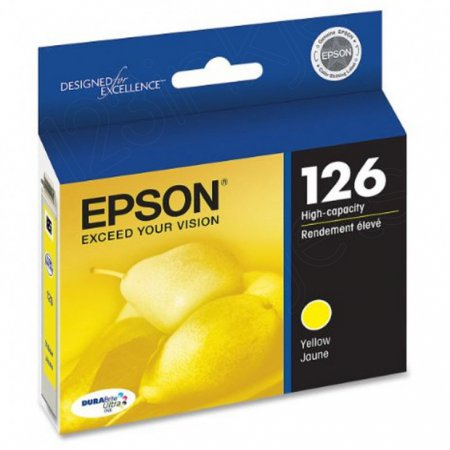 Epson T126420 Ink Cartridge, High Capacity Yellow, OEM