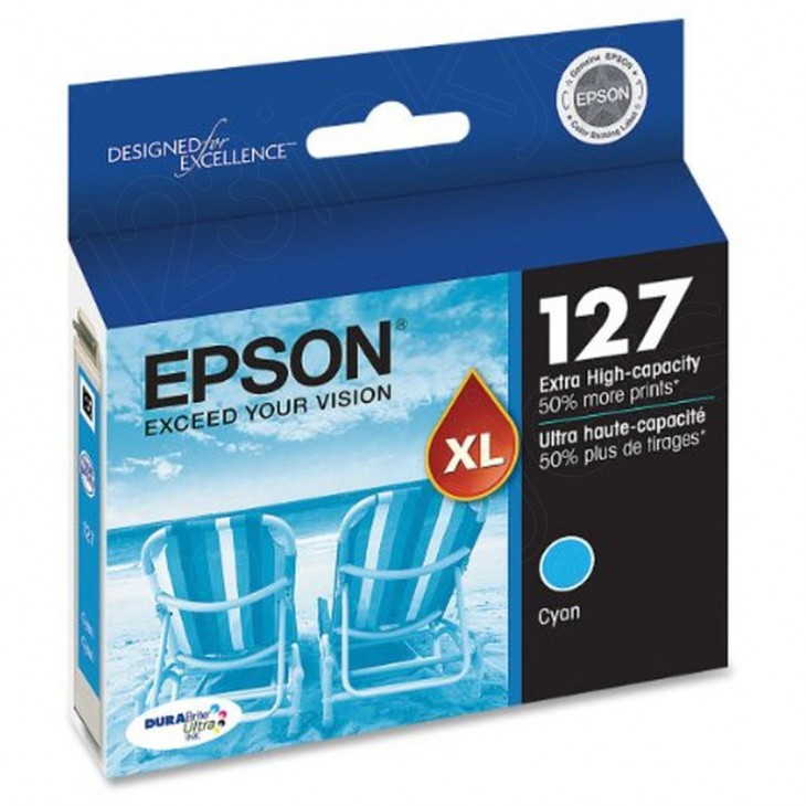 Epson T127220 Ink Cartridge, Extra High Capacity Cyan, OEM