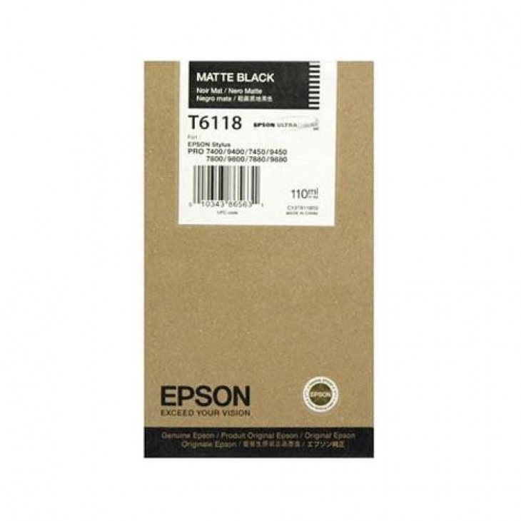 Epson OEM T611800 Matte Black Ink Cartridge