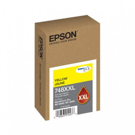 Epson OEM T748XXL420 Extra High Yield Yellow Ink