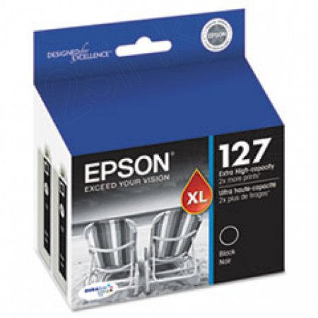 Genuine Epson T127120D2 Black Ink Cartridges